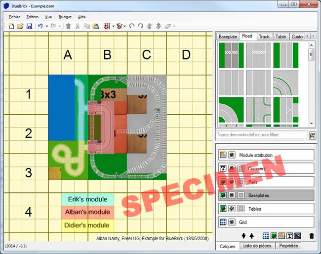 Blue Brick track designer screenshot